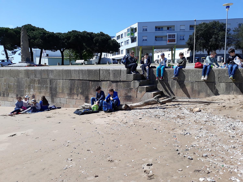 Ecole sainte marie Guérande sortie CM1-CM2 port saint-nazaire