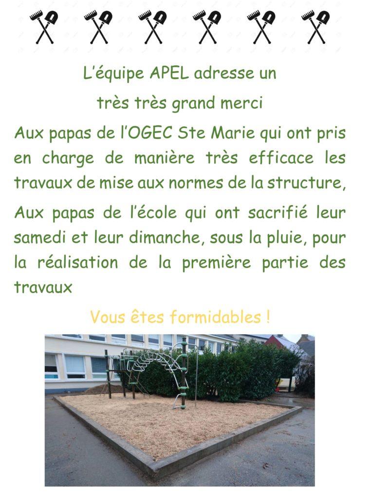 Ecole Sainte Marie Travaux structure 1